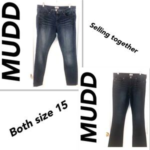 2 Pairs of MUDD Jeans Size 15